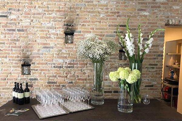 tafel idee bloemen trouwen