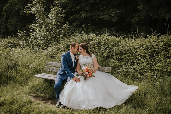 fleurige bloemen trouwen
