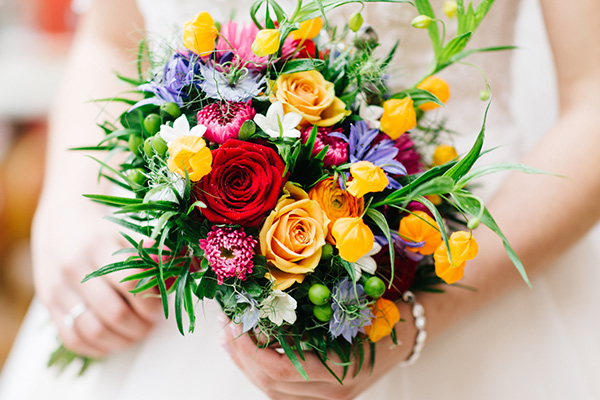 trouwen bloemen zomer